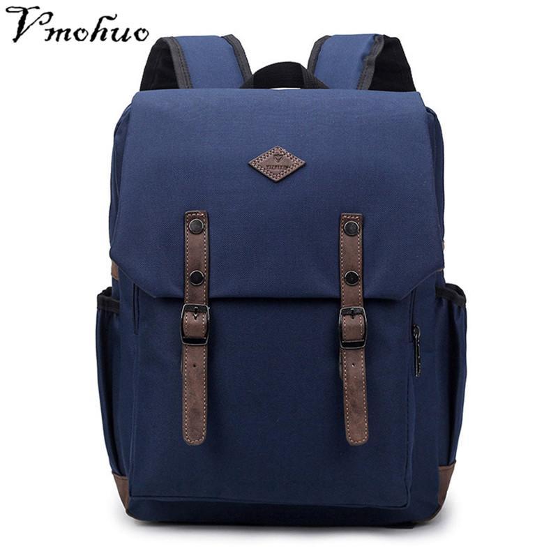 2e757e61ae VMOHUO Vintage Men Canvas Backpacks For Teenage Boys Large Capacity School  Bags Laptop Backpack Mochilas Fashion Men Backpack Kids Backpacks Dakine ...