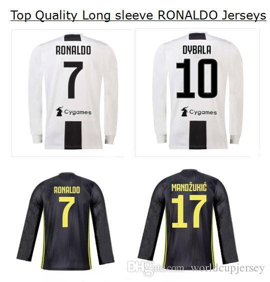 9daa94f8cab ... australia 2018 long sleeve 2019 ronaldo juventus soccer jersey 18 19  juve 2018 home dybala higuain