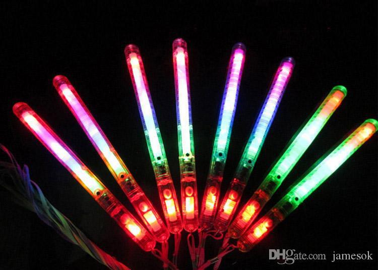 Новый мигающий жезл LED Glow Light Up Stick Патруль Мигающий Концерт Партии Сувениры Рождество Поставки Случайный Цвет b910