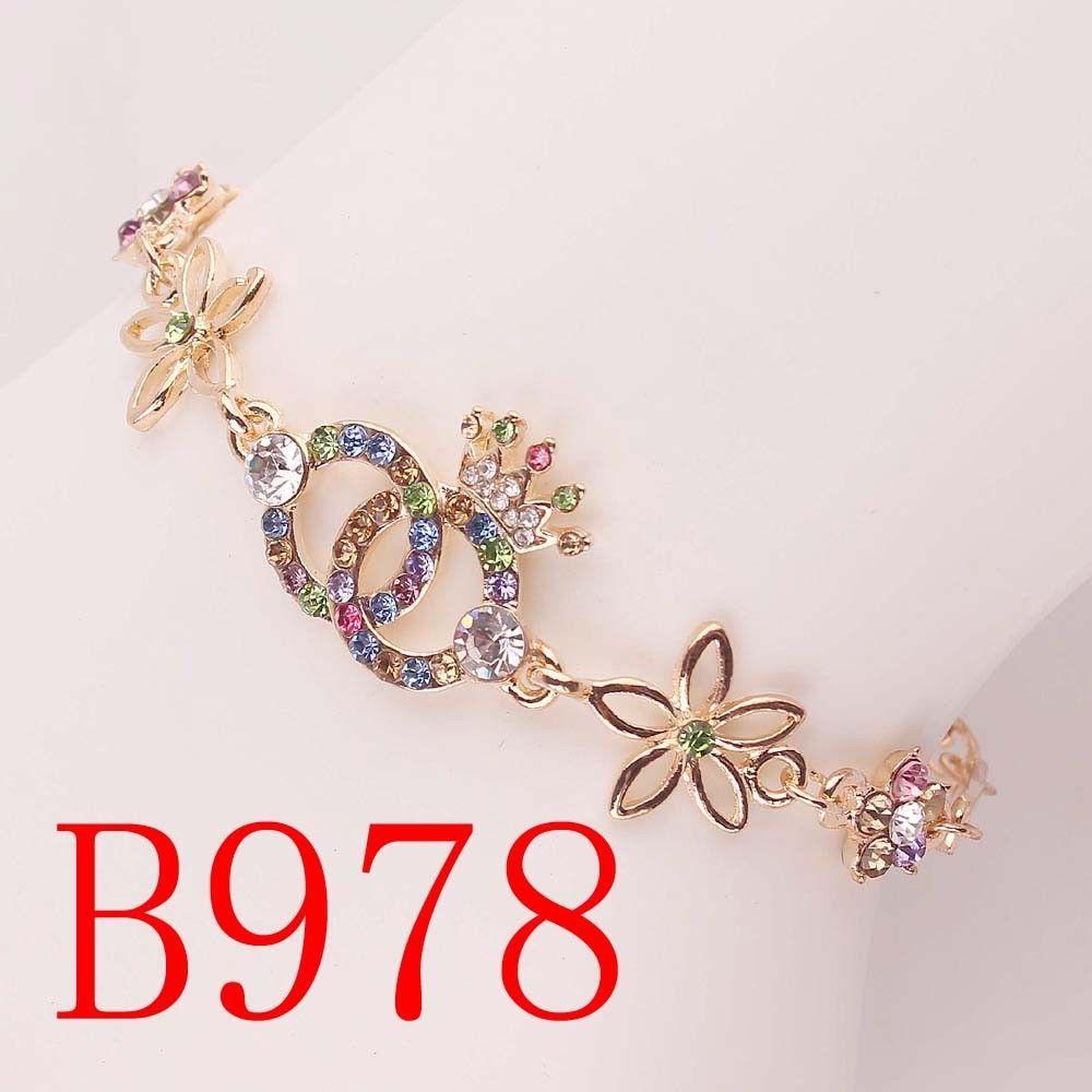 Woman Gold Filled Austrian Crystal love Desigs Bangle & Bracelet GIFT