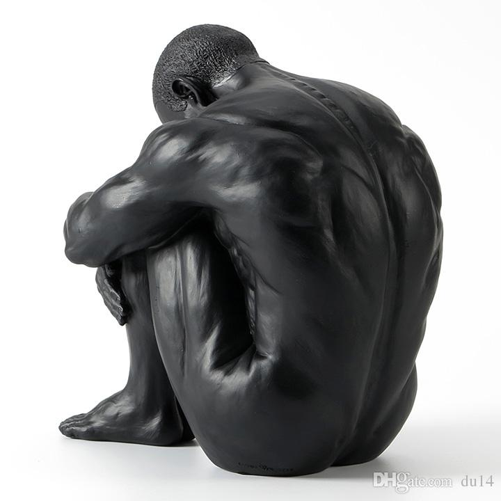2018 Resin Creative Ornaments Contemporary Nude Art Male Sculpture ...