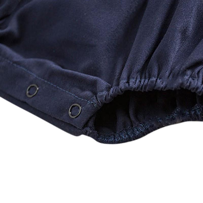 Moda Bebé Trajes Niños Mezcla de algodón Bebé Cuerpo Mono Sólido Sólido Unisex Niños Encantadores pantalones suaves