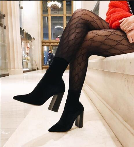 a4d471751c0 2018 new fashion letters lace hollow network red stockings sexy small mesh pantyhose  women s Black and white socks