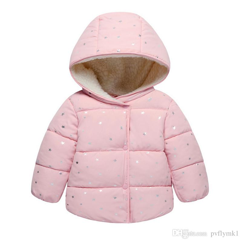 88005b61b Baby Girls Coat   Jacket Children Outerwear Winter Hooded Coats ...