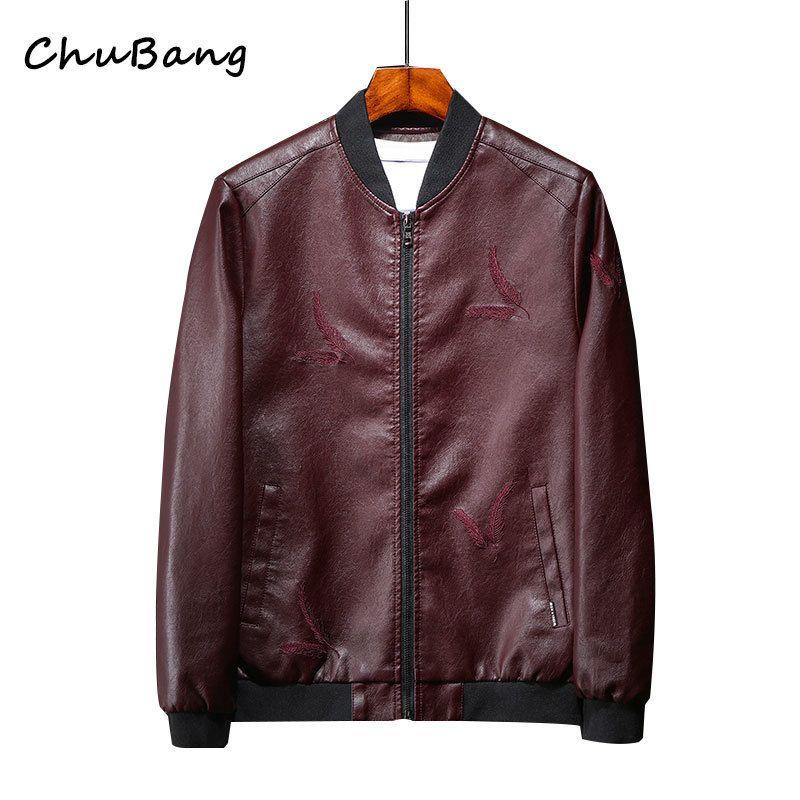 e2dfa3a8d90b Men s PU Jackets Coats Motorcycle Leather Jackets Men Autumn Spring ...