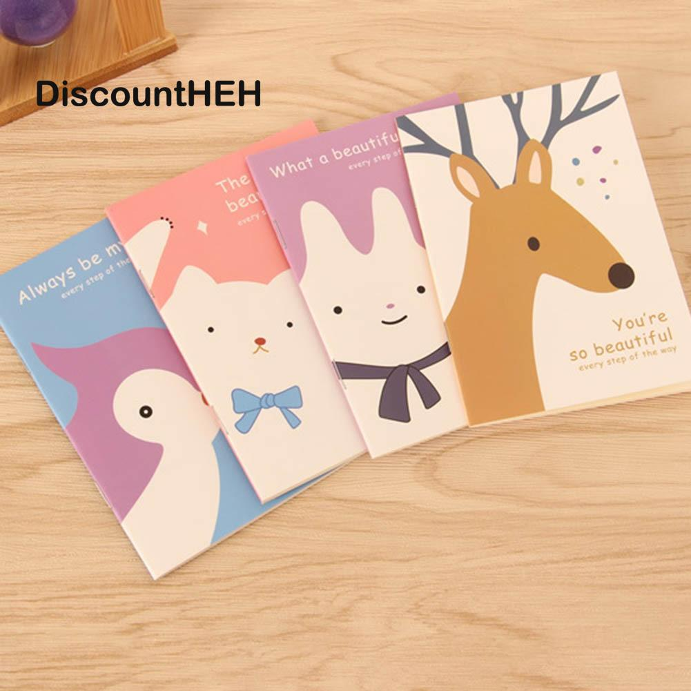 1pc Cute Mini Vintage Flower NotLovely Animal Notepads for Kids Gifts Korean Stationery