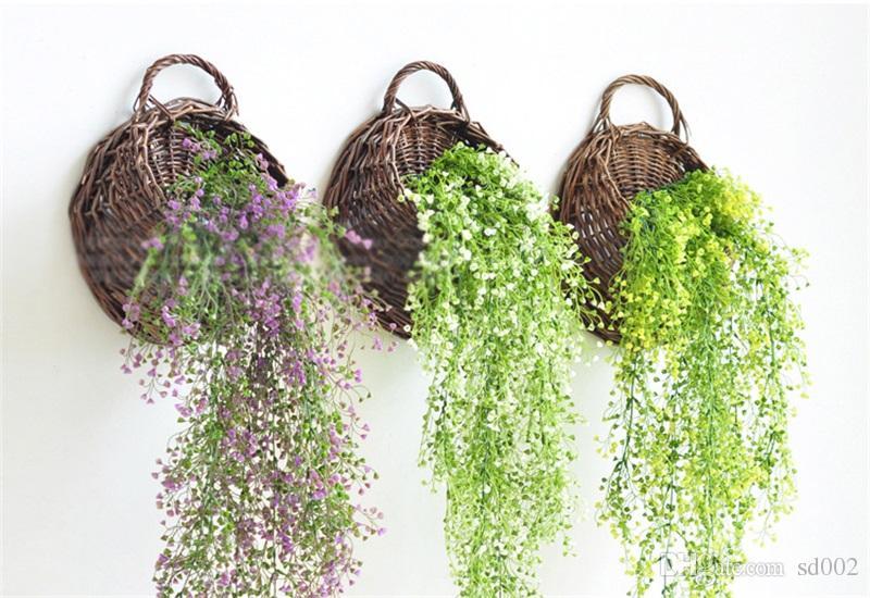 Творческий искусственный лист плюща тонкие гирлянды растения Цветок винограда поддельные шелковые висит свадьба Главная кондиционер трубы декор поставки 5gd YY