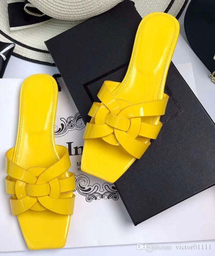 679572333c6b Women Summer Sandals New Fashion Tribute Patent Leather Flats Crossover  Flip Flops Slippers Comfortable Beach Sandals Heeled Sandals Boys Sandals  From ...