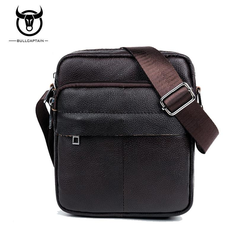 c0f1a9f155b5 BULL CAPTAIN 2017 Fashion Genuine Leather Shoulder Bags Men Business Crossbody  Bags Mini Brand Casual Male Messenger Bag  001 Evening Bags Stone Mountain  ...