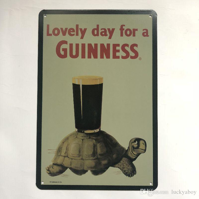 Lovely Day for a Guinness Vintage Rustic Home Decor Bar Pub Hotel Restaurant Coffee Shop home Decorative Metal Retro Tin Sign