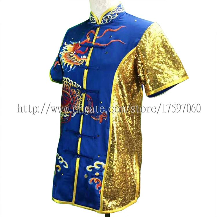 Embroidery Chinese Wushu uniform Kungfu clothes taolu outfit Martial arts outfit changquan garment for men women boy girl children kids