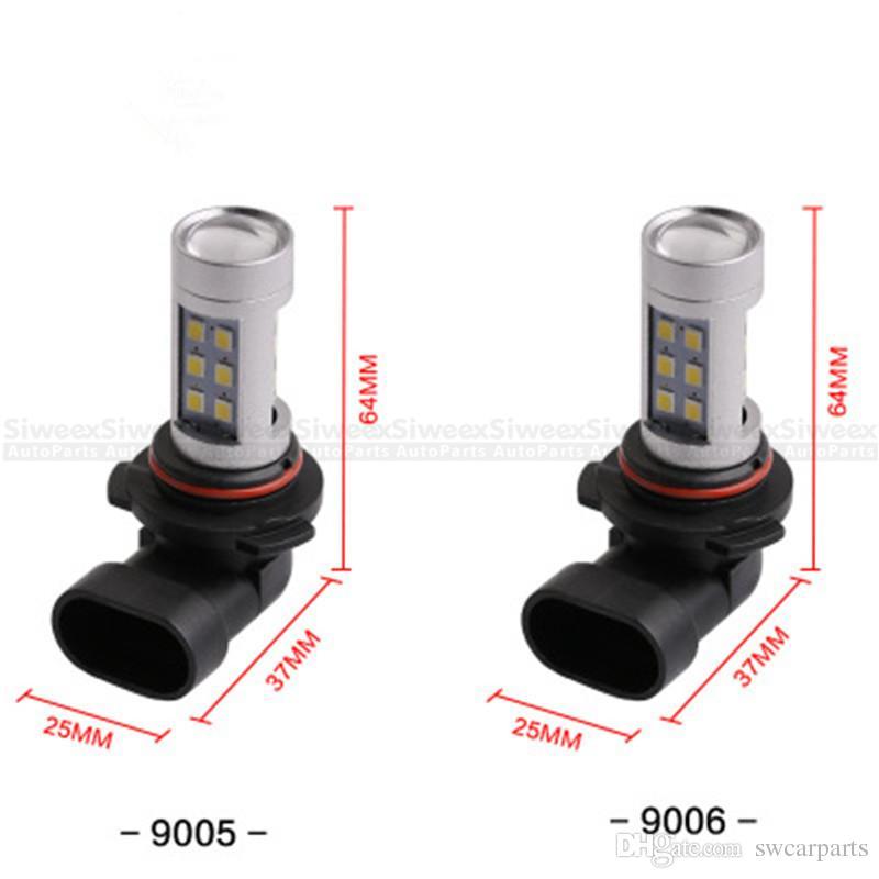 Brand New haute puissance blanc 21SMD 2835 H4 H7 H8 / H11 9005 9006 VOITURE LED freins queue de stationnement feux de brouillard DRL 12V DC facile à installer