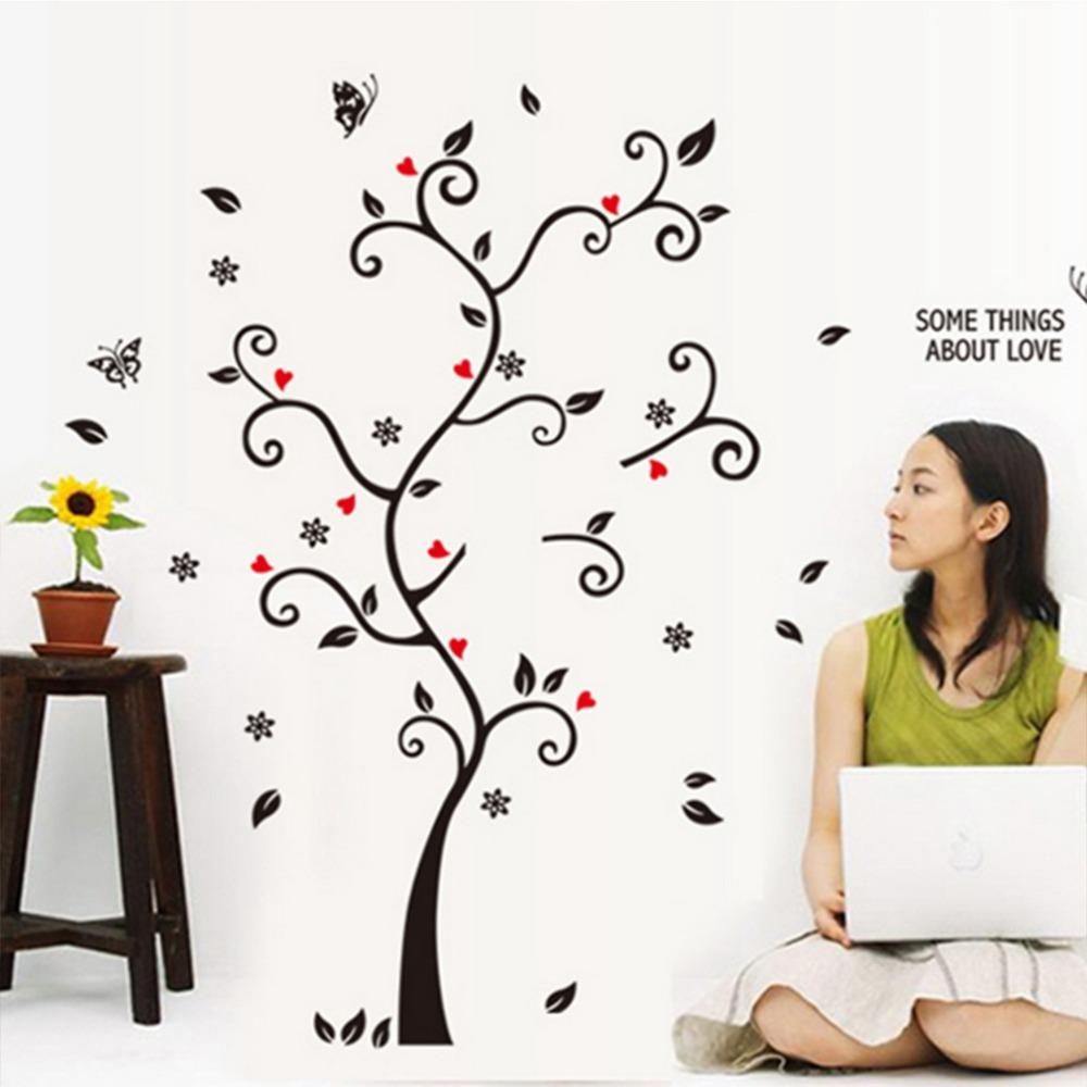3D Large Cartoon Child Baby Tree Photo Frame Wall Sticker Fairy Bedroom Decals Home Decoration Decor Living Kids Rooms