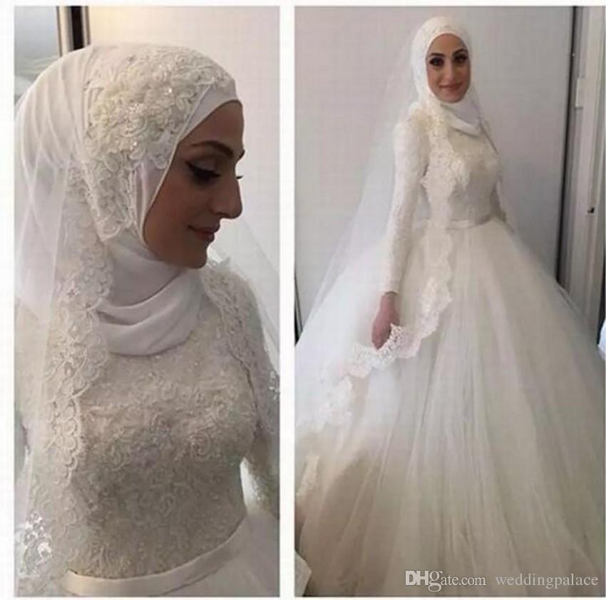 Arabic Ball Gown Wedding Dresses Muslim Islamic Wedding Dresses