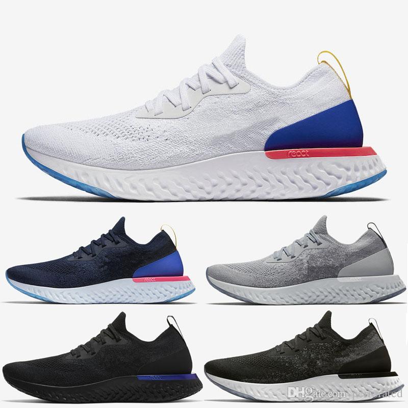 big sale 3952b 5cbd6 Nueva Alta Calidad Epic React Running Shoes Mujer Hombre Zapatillas De Deporte  Zapatillas Deportivas Epic React Man Run Shoes Zapatillas Zapatos Blancos  Por ...