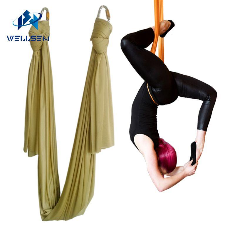 5m X 2.8m Anti-gravity Yoga Hammock Fabric Yoga Flying Swing Yoga Hammock Practicing Inversion Exercise Strap Traction Device Yoga Belts