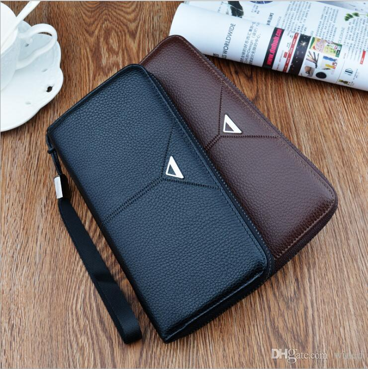 2017 Men's and Women's Classic Card Pack Black Handbags Red Wallet Brown Keychain Fashion Casual Coin Purse Wallets