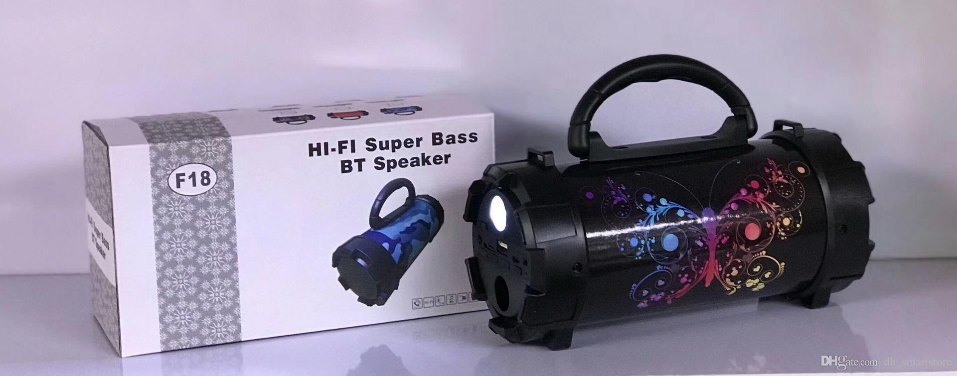 F18 TF Drahtlose Bluetooth Lautsprecher Outdoor Subwoofer Wasserdichte Lautsprecher Stereo HIFI Super Bass Tragbare Musik MP3 Player Unterstützung USB 1200 MAH