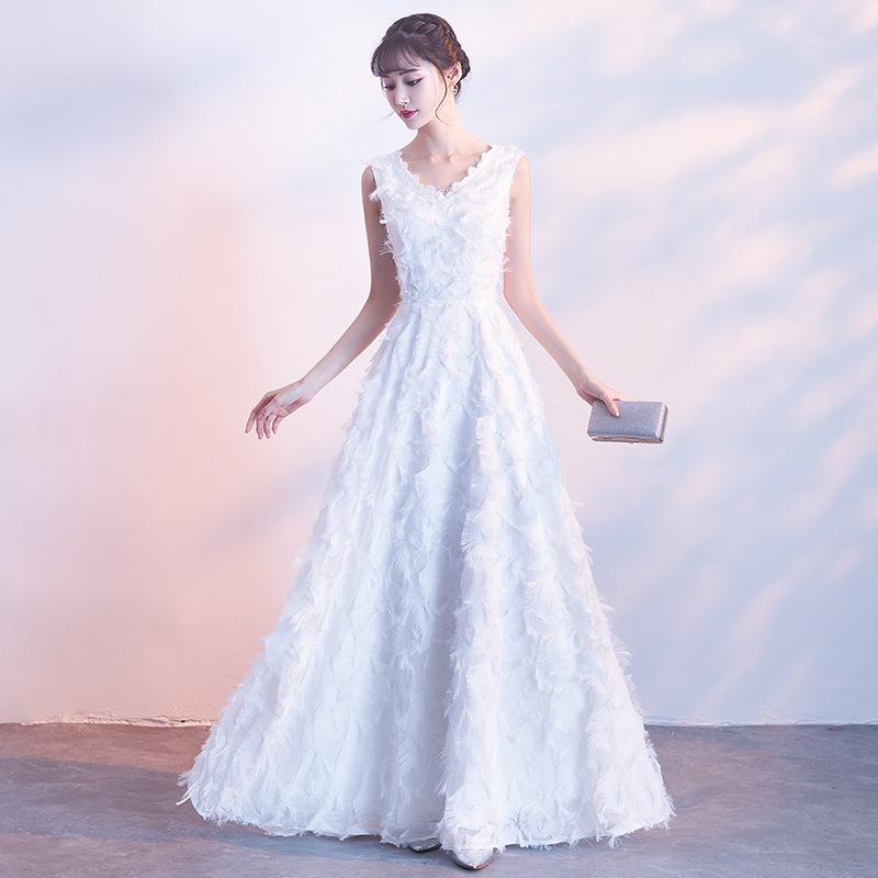 64f358d316 Vestidos Jeans MLH902 Nova Sra Win Luxo Branco Longo Vestido De Noite Sexy  Cintura Com Cristal Vestido De Festa Personalizado Vestido De Baile Modelos  ...