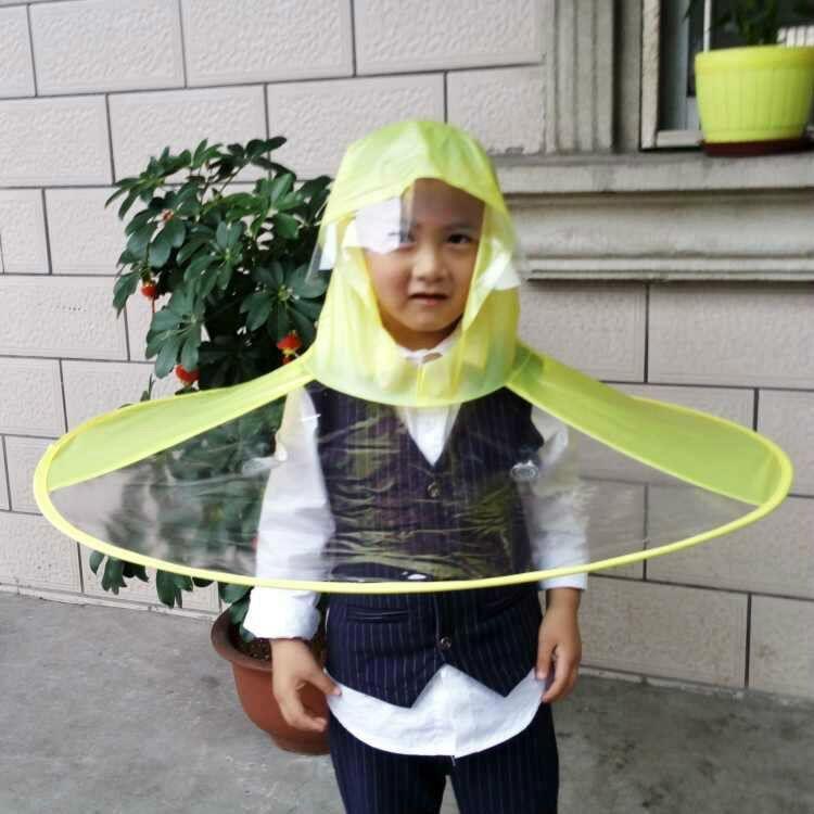 871e35a5af Acquista Bambini Comic Flying Saucer Ombrello Maniglia Bambini Impermeabile  Cappello Tremando Mantello Cappelli Poncho E Mantello A $33.99 Dal Isaaco  ...