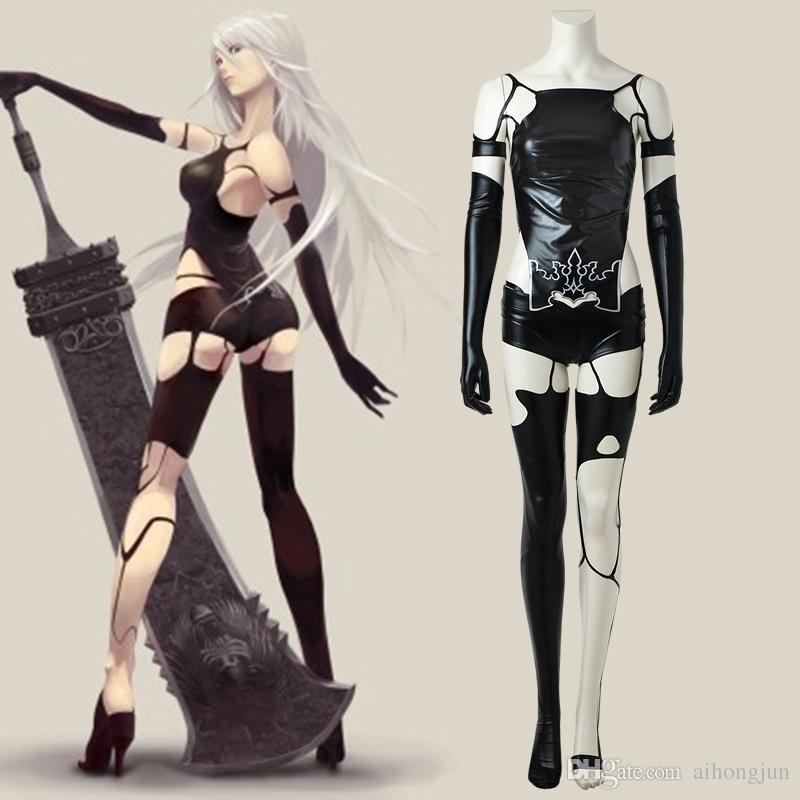 NieR Automata A2 Sexy Suit Cosplay Costume Halloween Adult Costume YoRHa  Type A No. 2 Costume Black Halloween Party Bunny Costume Adult Costumes  From ...