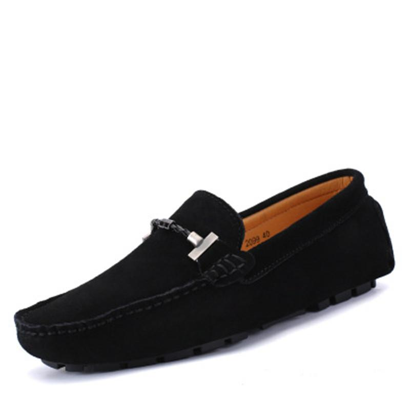 27d16e99f18 Mens Genuine Leather Moccasins Stylish Buckle Loafers Men Comfort Driving  Shoes Male Slip-on Flats Gommino Boat Shoes Online with  59.58 Pair on  Baby107 s ...