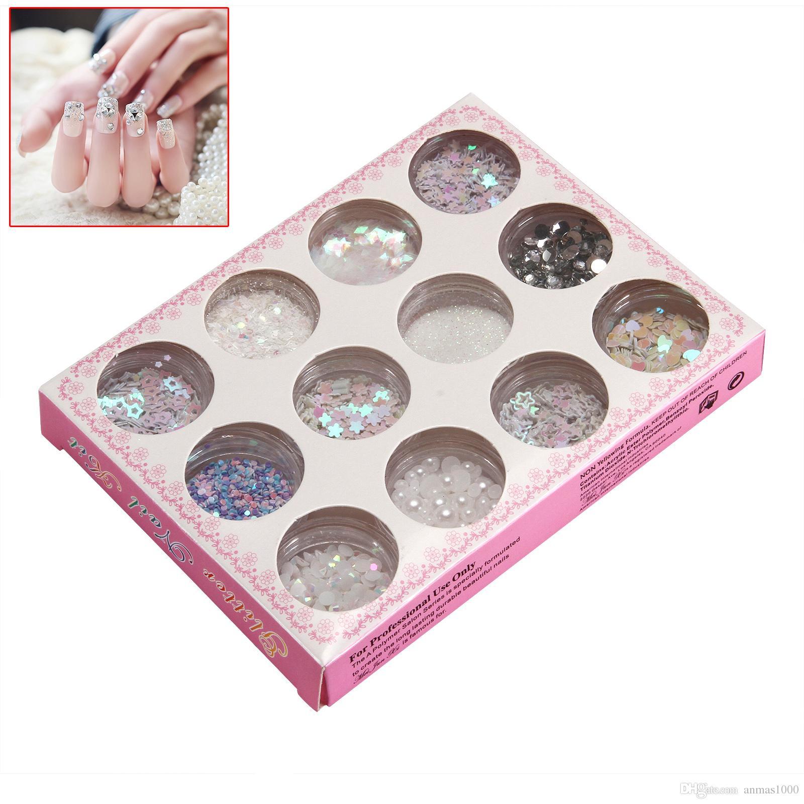 Hot Sale !!!! Nail Art Glitter Tips Decoration Dust Set Kit For Uv ...