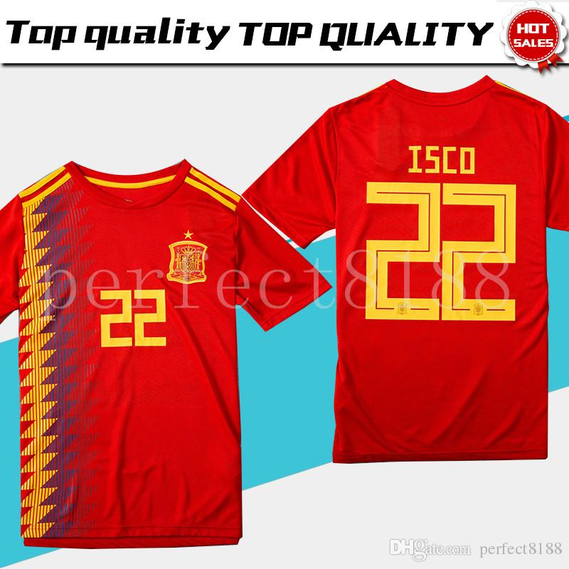 4864c7528 Spain Home Soccer Jersey 2018 World Cup Spain Home Soccer Shirt 2018 ...