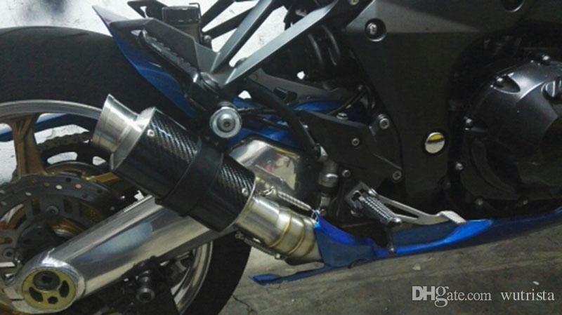 TKOSM Abrazadera en tubo medio Eliminador de CAT Silenciador de escape de carrera para Kawasaki Z1000 2010 2011 2012 2013 2014 2015
