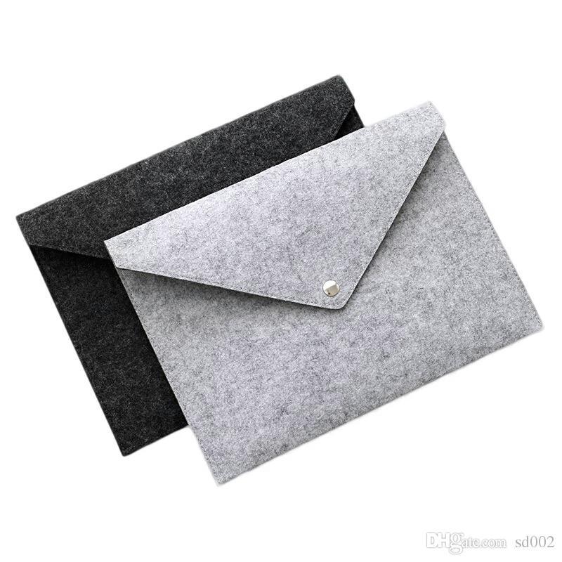Durable Button Folders Filing Supplies A4 Felt File Pocket Creative Portable Archival Bag School Office Articles 4ry C R