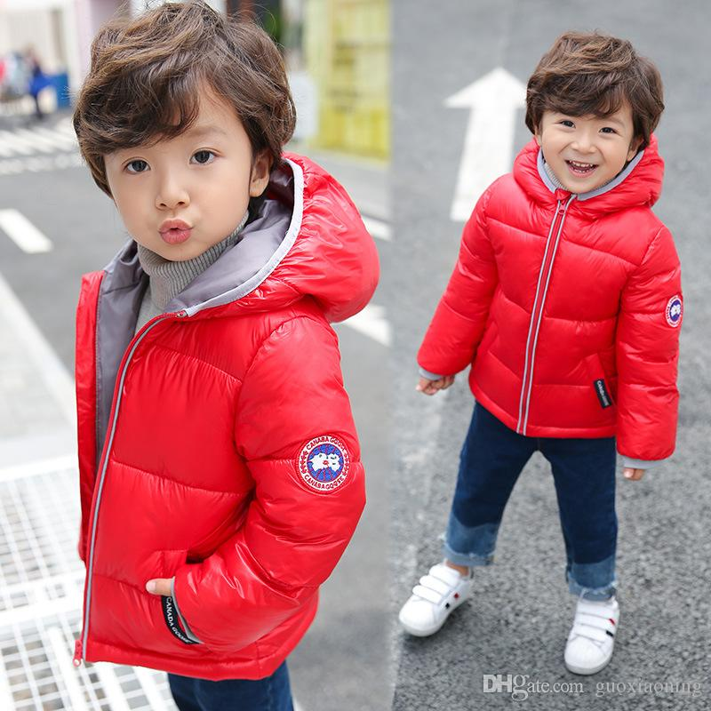 4122c7e26 2018 Winter New Children s Down Jacket Thick Hooded Baby s Down Coat ...