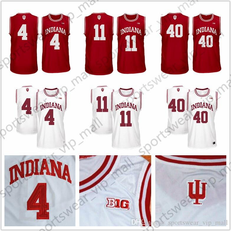 reputable site 6c8a1 5cecb NCAA Indiana Hoosiers Jersey 4 Isiah Thomas 11 Victor Oladipo 40 Cody  Zeller red white Stitched College Basketball Jerseys wholesale