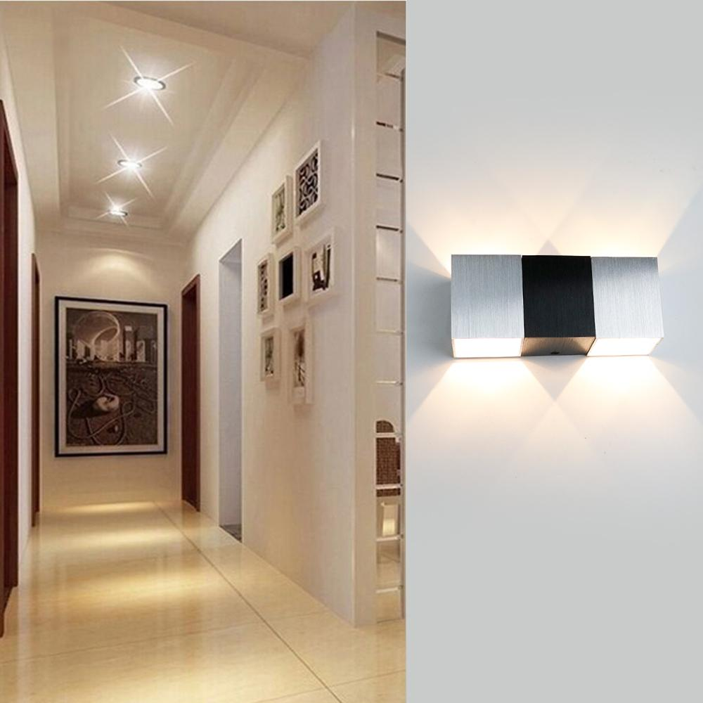 2018 2 Sides Wall Lamp Light Modern Ac 110v 220v 3w Led Fixtures Light On  The Wall Bedroom Lamp For Foyer Bedroom House Decoration Il From Stylenew,  ...