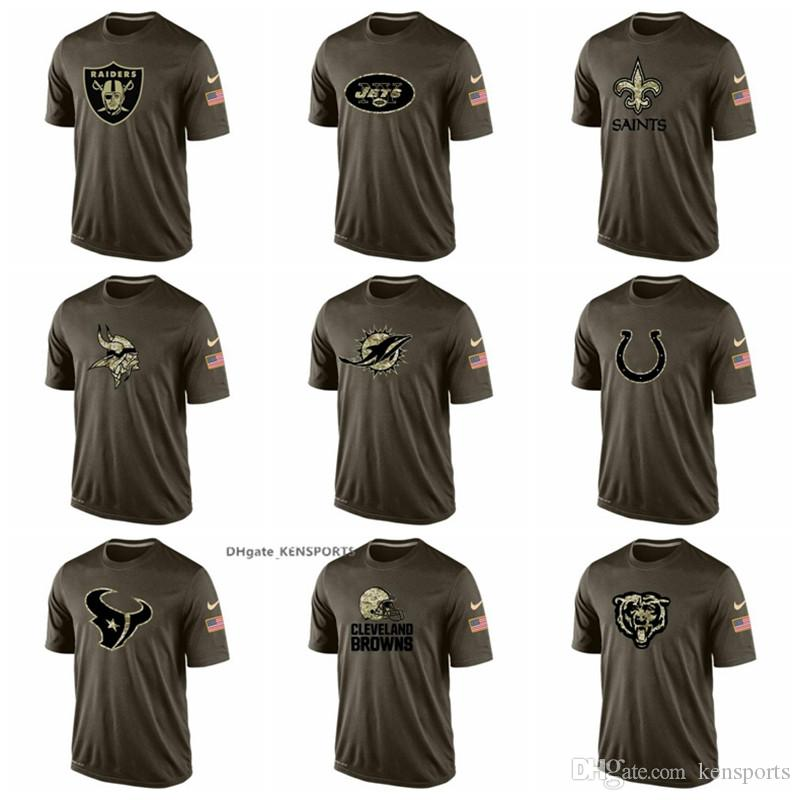 303dee2f8 Men Oakland Raiders New Orleans Saints Minnesota Vikings Colts Houston  Texans Salute Cleveland Browns Salute To Service T-Shirt New Shorts New  Jersey New ...