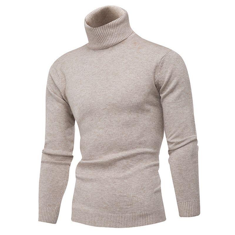 huge discount a542b 01aee Maglione invernale in caldo e spesso 100% maglione di cachemire Dolcevita  uomo di marca Maglioni slim fit Pullover uomo Maglieria doppio collo