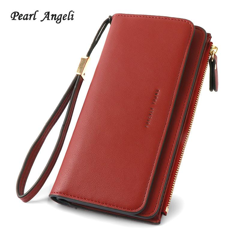 Pearl Angeli Wallet Women For Zipper Pouch Long Style PU Leather Lady Clutch  Purse Female Wallet Carteira Feminina Lost Wallet Cheap Wallets From ... 59171231b665