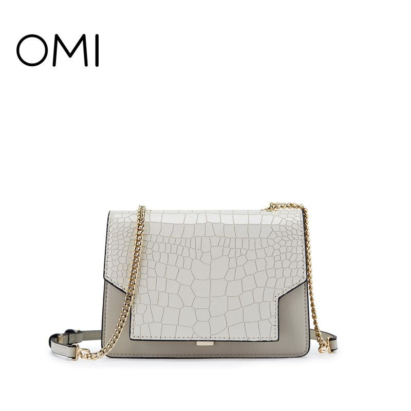 Omi Bag Female 2018 New Leather Pouch Summer Small Bag Chain ... 46332169cf7c1
