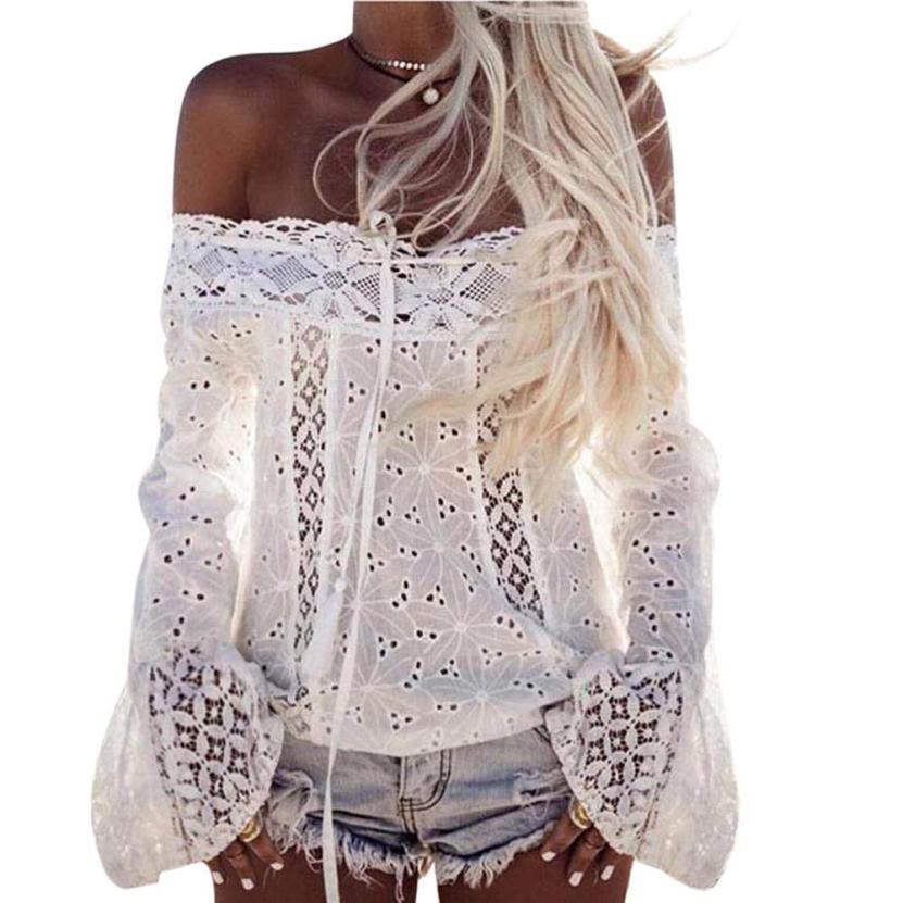 f7290c54354964 2019 New Fashion Women Off Shoulder Long Sleeve Lace Women Good Quality  Loose Fashion Tops T Shirt Cool T Shirt Online T Shirt 24 Hours From  Jamie05