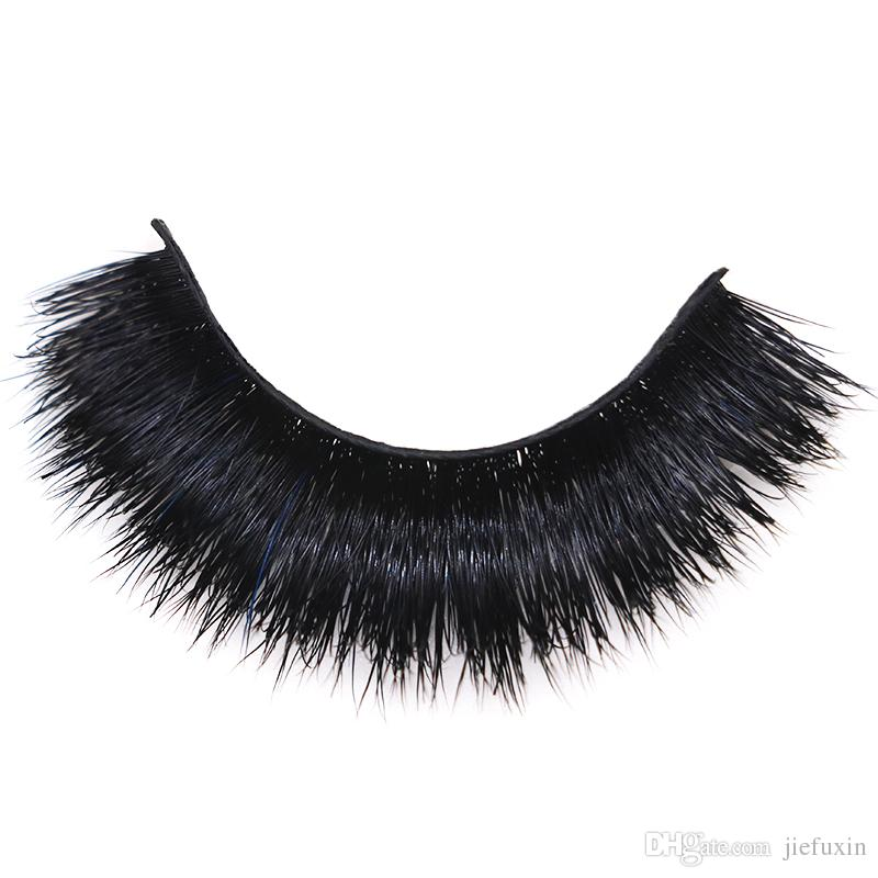 Made Mink Natural Faux Long Vegan Lashes 3d Eyelashes Silk Hand xBeCrdoW