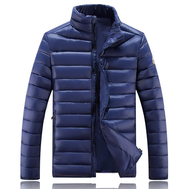 Men's down jacket Korean men's down jacket Korean version of the collar slim fit and increase the solid color Winter Coat