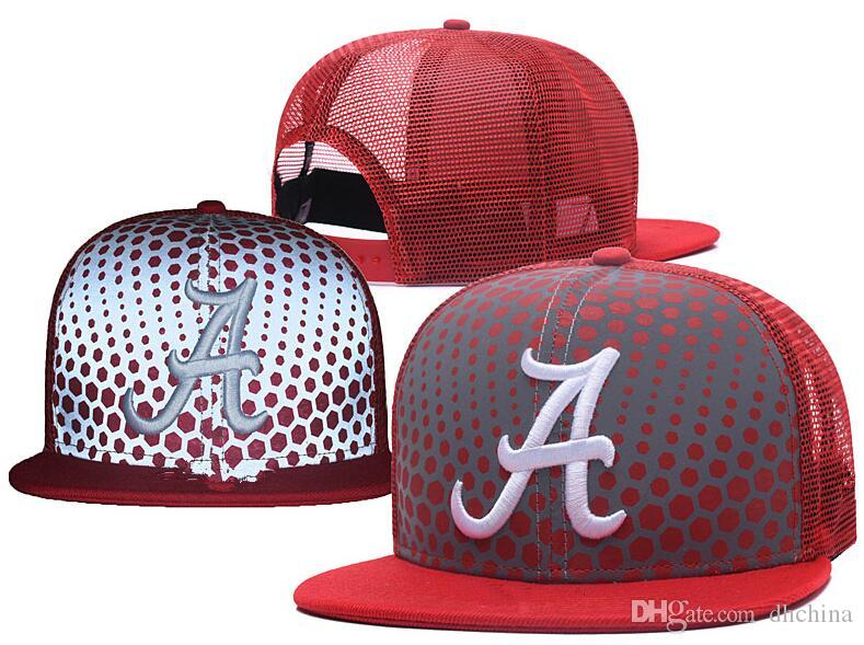 4c878cf7873 2019 New Caps 2018 College Football Snapback Hats Net Cap Red Color Alabama  Team Hats Mix Match Order All Caps Top Quality Hat Wholesale From Dhchina