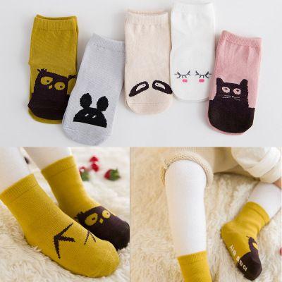 Babysocken 0-4 Jahre aus reiner Baumwolle Dot Glue Anti Slippery Frühling und Herbst Junge Mädchen und Jungen New Cartoon Jacquard Baby Bodensocken