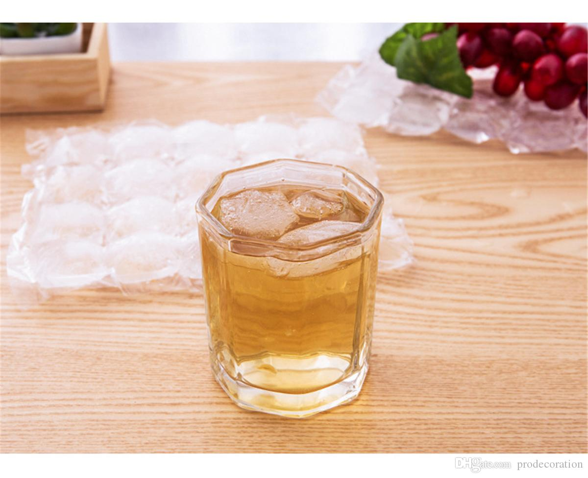 Creative Disposable Ice Cube Bags Frozen Juice Liquid Clear Sealed Pack Party Bar BBQ Ice Cream Model Ice Cube Tray Mold