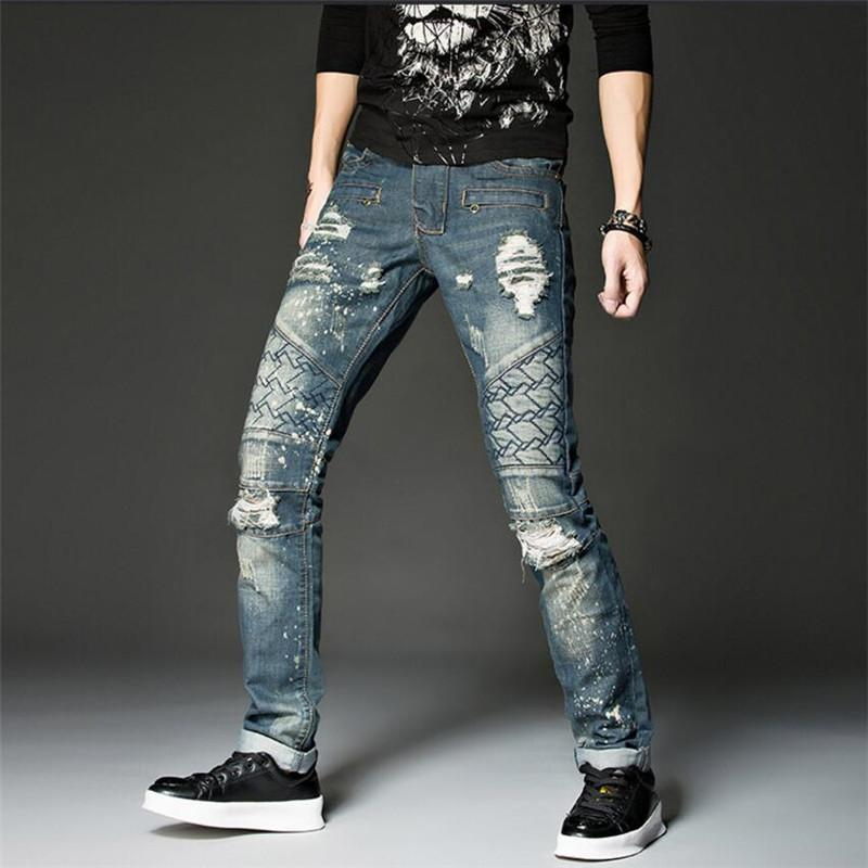 3adec1fa82287 2018 Autumn Men Jeans Quality Ripped Skinny Jeans Men Fashion Slim Mens  Regular Fit Hole Zipper Pants Casual A5283 From Aimea