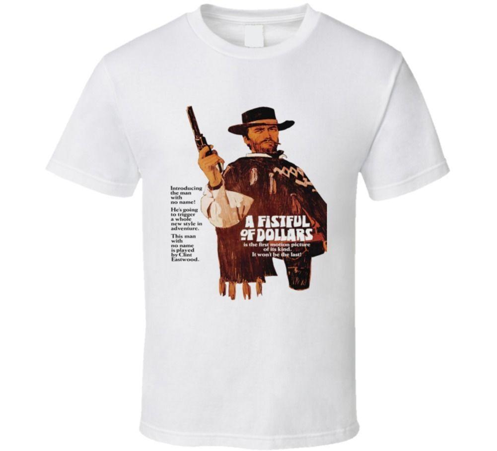 0e63e3296f Vintage Film Spaghetti Western T Shirt A Fistful Of Dollars 1966 Designable T  Shirts Buy Funny Shirts From Liguo0054, $15.53  DHgate.Com