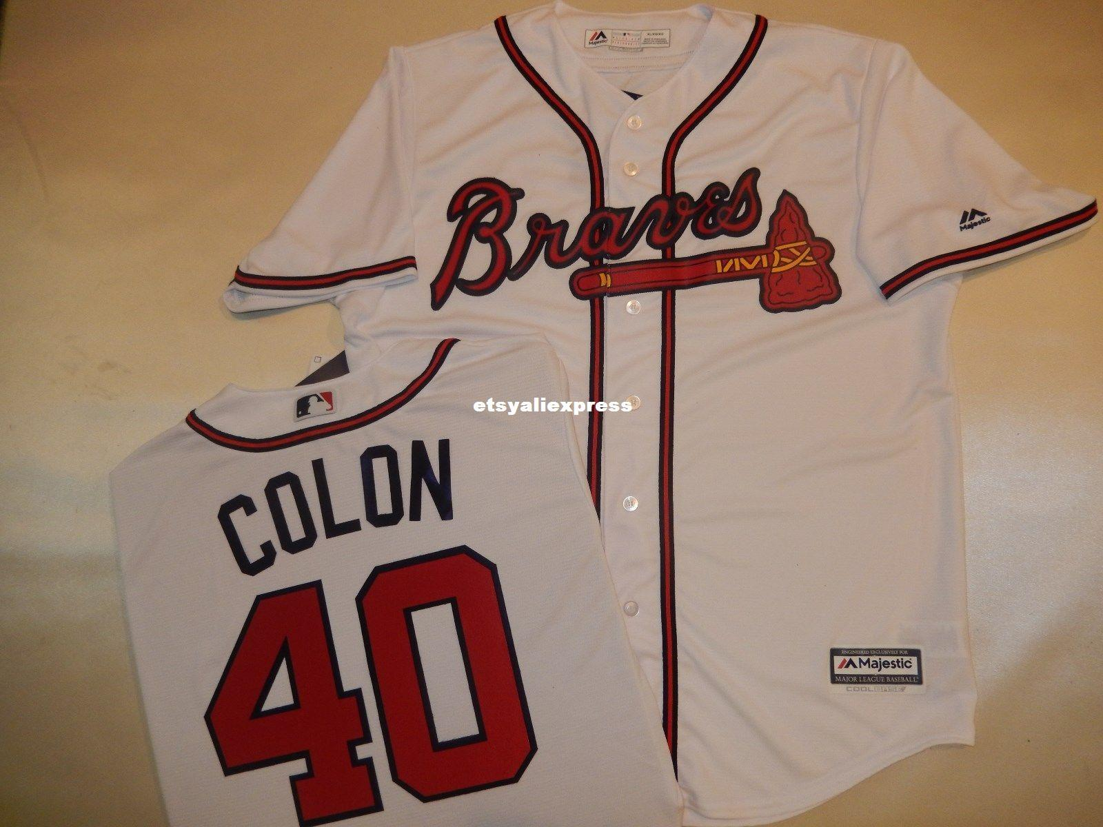 317a049bc Wholesale Cheap MENS MAJESTIC Atlanta #40 BARTOLO COLON Baseball ...