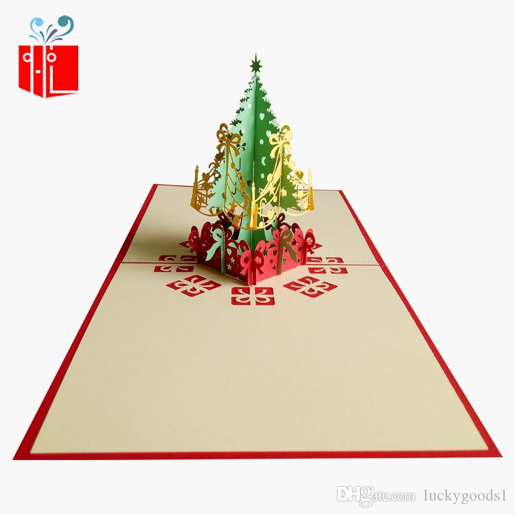 Origami 3D Pop UP Card Creative Merry Christmas Gift&Greeting Cards ...