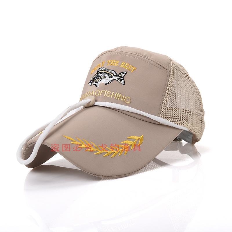 Nova Moda Esportes Ao Ar Livre Chapéu de Pesca Sombra de verão luz solar Cap Bordado Bonés de beisebol Ajustável Pescador Snapback