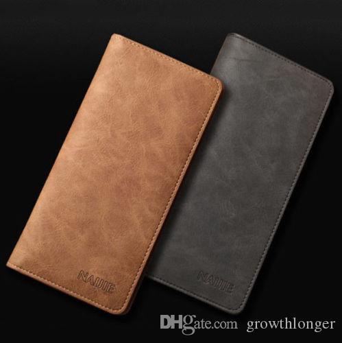 Men Leather Bifold Credit ID Card Holder Suit Wallet Purse Checkbook Clutch
