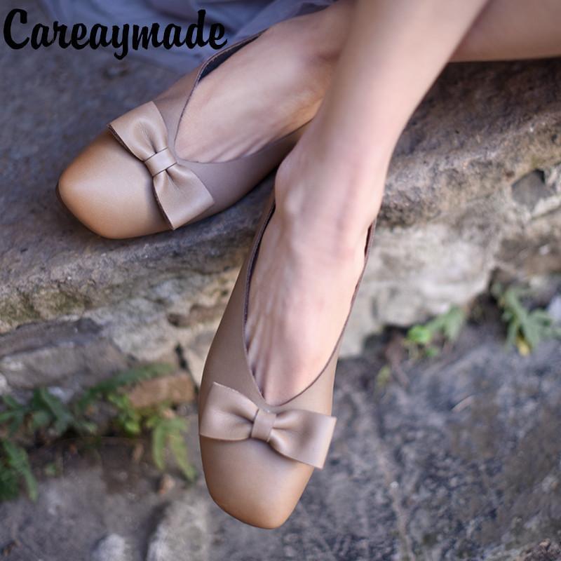 fa1daf8be07 Compre Careaymade 2018 Primavera Nuevos Zapatos De Mujer Hechos A Mano De  Cuero Antiguo